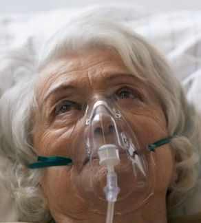 patient suffering from breathing